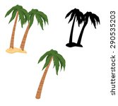 A Vector Illustration Of Palm...