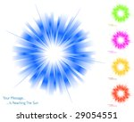 Sunburst collection 6/6 - stock vector