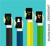 call time on mobile | Shutterstock .eps vector #290545547