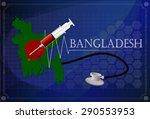map of bangladesh with... | Shutterstock .eps vector #290553953