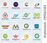 logo collection full vector... | Shutterstock .eps vector #290561363