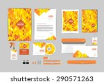 corporate identity template for ... | Shutterstock .eps vector #290571263