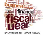 fiscal year word cloud concept | Shutterstock . vector #290578607