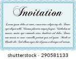 invitation. artistry design.... | Shutterstock .eps vector #290581133