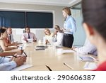 group of businesspeople meeting ... | Shutterstock . vector #290606387