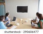 four businesspeople having... | Shutterstock . vector #290606477