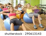 women taking part in gym... | Shutterstock . vector #290613143