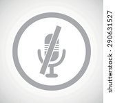 grey image of muted microphone...