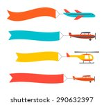 flying planes set and... | Shutterstock .eps vector #290632397