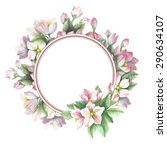 watercolor card with spring... | Shutterstock .eps vector #290634107