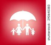 family under umbrella   family... | Shutterstock . vector #290640383