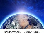 planet earth. elements of this... | Shutterstock . vector #290642303