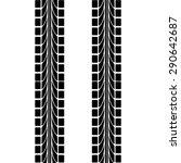 tire track | Shutterstock .eps vector #290642687