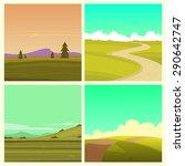Cartoon Landscape Set