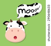 cute cow talking moo. editable...