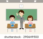 students to learn in a tablet | Shutterstock .eps vector #290649503