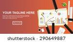 statistics illustration. flat... | Shutterstock .eps vector #290649887