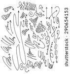 vector hand drawn arrows set... | Shutterstock .eps vector #290654153