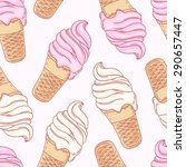 twisted ice cream cone....   Shutterstock .eps vector #290657447