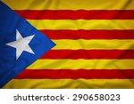 blue estelada  1918  flag on... | Shutterstock . vector #290658023