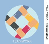 vector teamwork concept with... | Shutterstock .eps vector #290674967