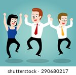 successful business people  | Shutterstock .eps vector #290680217