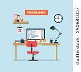 developer and programmer... | Shutterstock .eps vector #290681057