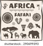 africa and safari icon  element ...