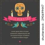 print   mexican sugar skull ... | Shutterstock .eps vector #290699447
