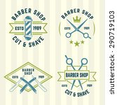barbershop set of vector... | Shutterstock .eps vector #290719103