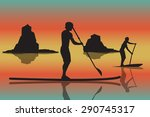 vector illustration of two men... | Shutterstock .eps vector #290745317