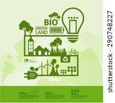 eco green planet vector... | Shutterstock .eps vector #290748227