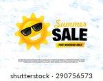 summer sale banner | Shutterstock .eps vector #290756573