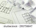 architectural project ... | Shutterstock . vector #290758847