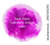 set of watercolor strokes and... | Shutterstock .eps vector #290769293