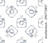 retro camera seamless pattern | Shutterstock .eps vector #290772857