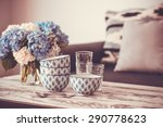 bouquet of hortensia flowers... | Shutterstock . vector #290778623