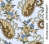 seamless pattern with openwork... | Shutterstock .eps vector #290784647