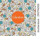 seamless pattern education | Shutterstock .eps vector #290796503