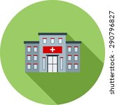hospital  building  clinic icon ... | Shutterstock .eps vector #290796827
