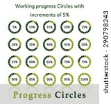 progress circles with... | Shutterstock .eps vector #290798243