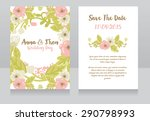 wedding invitation cards ... | Shutterstock .eps vector #290798993
