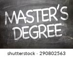Small photo of Master's Degree written on a chalkboard