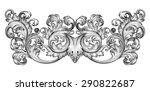 vintage baroque frame leaf... | Shutterstock .eps vector #290822687