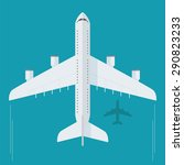 plane or airplane in the sky... | Shutterstock .eps vector #290823233