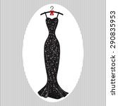 long evening dress black on...   Shutterstock .eps vector #290835953
