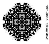 beautiful deco black square ... | Shutterstock . vector #290840303