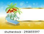 background abstract summer... | Shutterstock .eps vector #290855597
