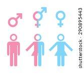 transgender transsexual concept.... | Shutterstock .eps vector #290895443