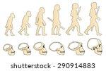 human evolution of the skull....   Shutterstock .eps vector #290914883